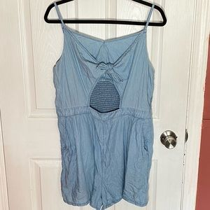 Aerie chambray romper